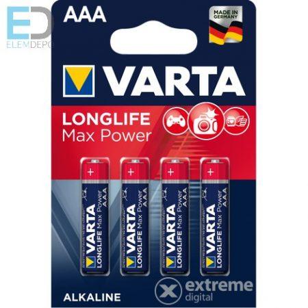Varta 1 db mikro elem Longlife Max Power AAA 4703 LR03 Bl4