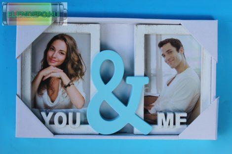 """Osztott képkeret 2 képpel """"You&Me"""""""