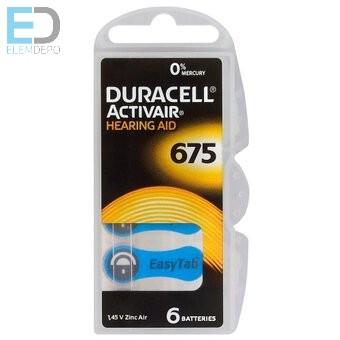 Duracell 1db elem hallókészülék elem DA675N6