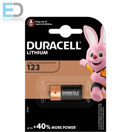 Duracell  1db elem DL 123A CR123 Lithium Ultra DL 123 3V BL1 NEW