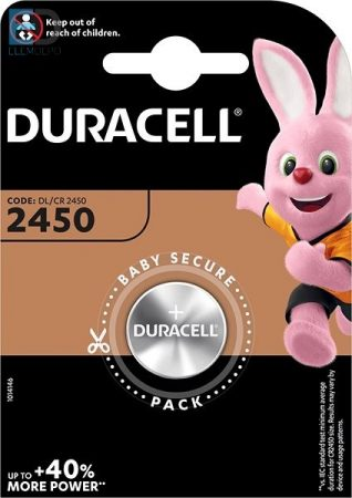 Duracell 1db elem Lithium DL 2450  3V BL1 ( CR2450 )