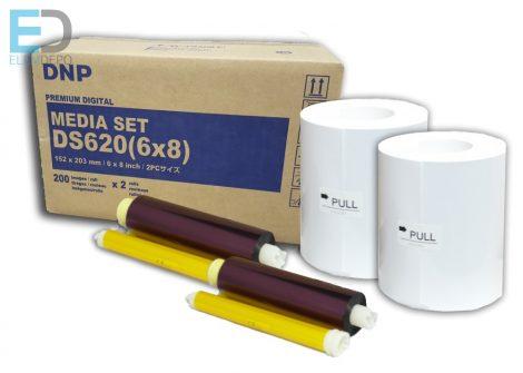 "DNP DS620 15 x 20cm (6"" x 8"") 2 x 200 Media set"