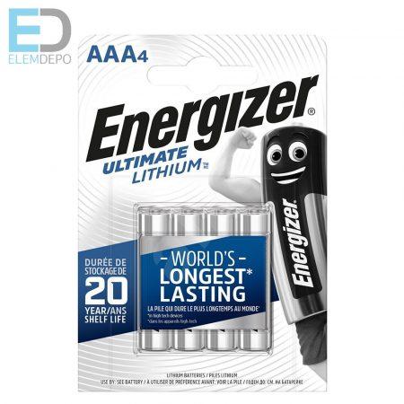Energizer 1 db elem Ultimate Lithium AAA LR03 B4