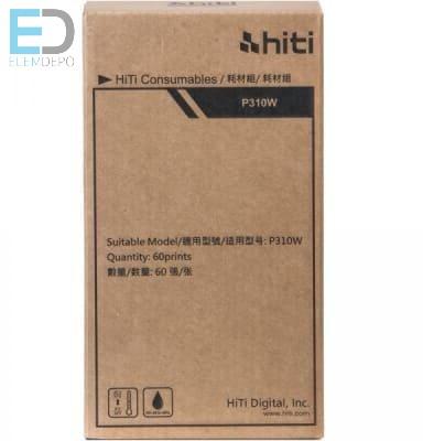 "HITI P310 W 10 x 15cm 4"" x 6"" / 60 fotópapír + fólia set"