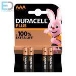 Duracell 1 db ceruza elem Plus MN2400 AAA LR03 alkáli  Bl4
