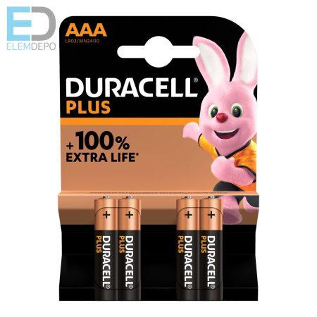 Duracell 1 db elem Plus MN2400 AAA NEW LR03  Bl4