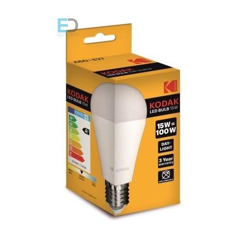 KODAK LED GLOBE A60 E27 15W (100W) 1450LM DAY-LIGHT 30415706