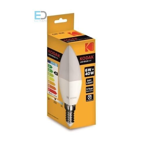 KODAK LED CANDLE C37 E14 6W (40W) 480LM DAY-LIGHT 30415737