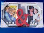 """Osztott képkeret """" ME & You ) 2 db 9cm x 13cm képnek"""