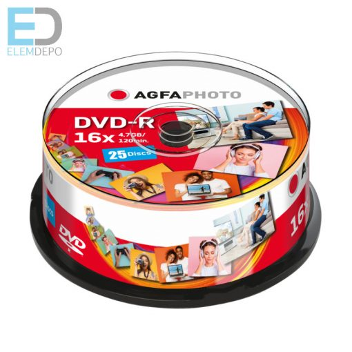 AgfaPhoto DVD-R 4,7GB 16x Speed 25-Cakebox