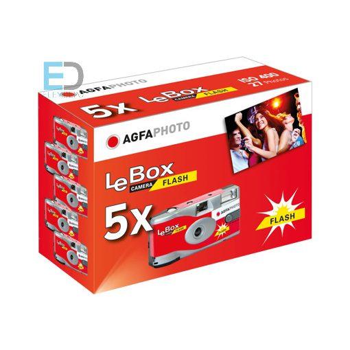 Agfa LeBox Flash 400-27-5pack  vakus egyszer használatos fényképezőgép 5 darab
