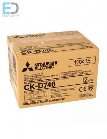 Mitsubishi CK-D746 10 x 15  ( 2 x 400/800 prints ) nyomtató alapanyag