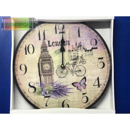 "Falióra elemes ""London"" 32cm"