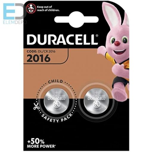 Duracell Lithium DL2016 CR2016 3V B2  ( 1db elem )