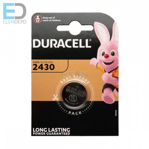 Duracell DL 2430 Lithium elem CR2430