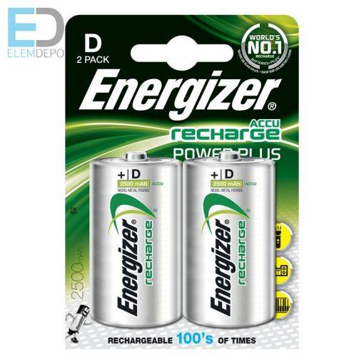 Energizer Power Plus Akku HR20 D 2500mAh B2 1db góliát akku