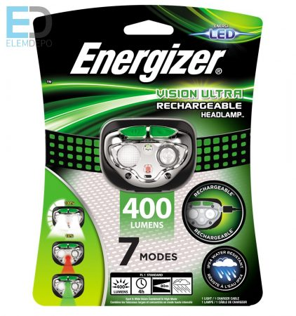 Energizer Vision Ultra Rechargeabla Headlamp 400 Lumens fejlámpa