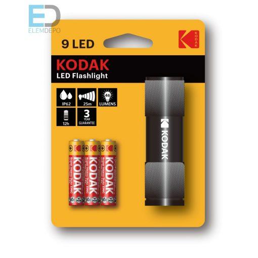 Kodak elemlámpa 9 LED Flashlight IP62 fekete