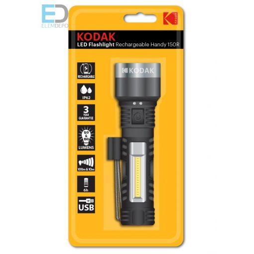 Kodak elemlámpa LED Flashlight Rechargeable Handy 150R
