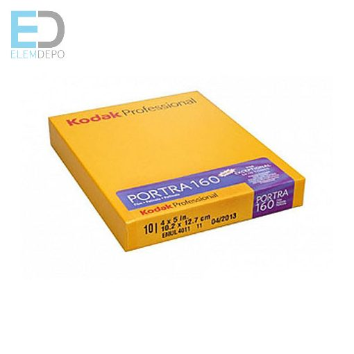 Kodak Portra 160 4 x 5in. 10,2cm x 12,7cm 10lap / doboz negatív síkfilm