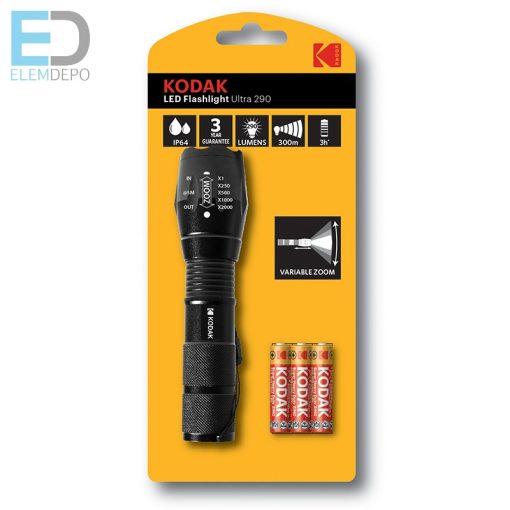 Kodak elemlámpa LED Flashlight Ultra 290 USB tölthető