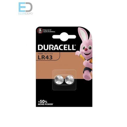 Duracell LR43 1,5 V 186 / V12GA B2 ( 1db elem )