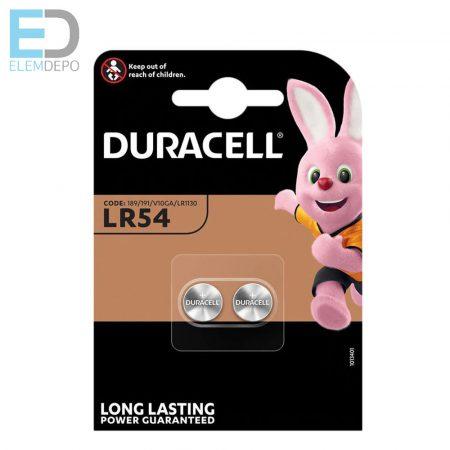 Duracell 1db elem LR54 1,5V ( 189, 191, V10GA, LR1130 ) B2 gombelem