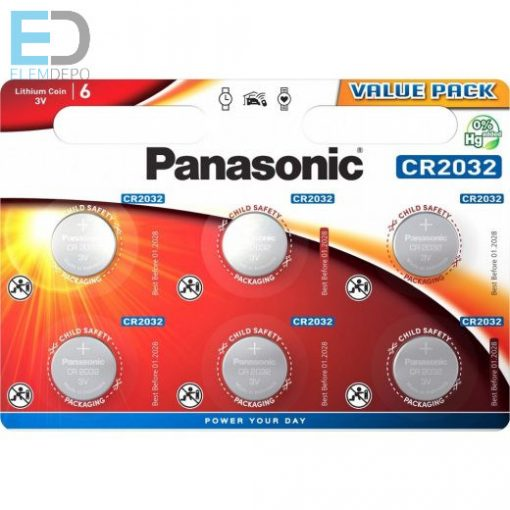 Panasonic CR 2032 B6 ( 1db elem )