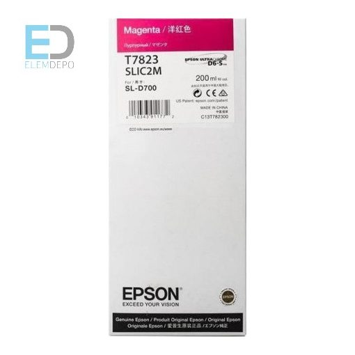 Epson T7823 Magenta 200ml Ink for the SL-D700 Surelab and D7 MiniLab